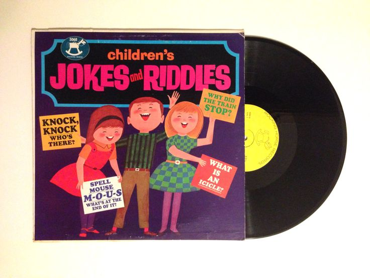20% OFF SALE Rare Vinyl Album Childrens Jokes and Riddles The Rocking Horse Players And Orchestra LP Record Kids Comedy
