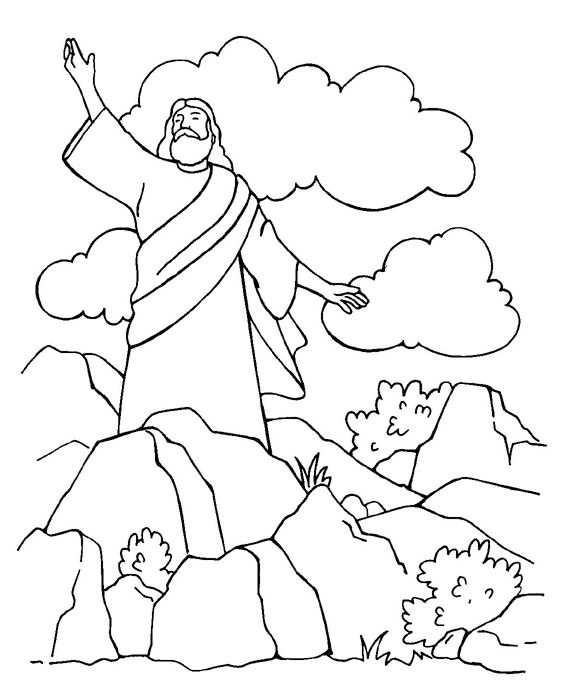 satan tempts jesus coloring page - Jesus Praying Hands Coloring Page