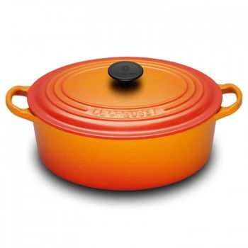 "Le Creuset ""Flame"" 27cm Oval French Oven - Teddingtons"