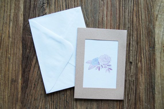 Flower greeting card, botanical, botanical print, watercolour print, watercolor flowers, birthday card, greeting cards blank, handmade
