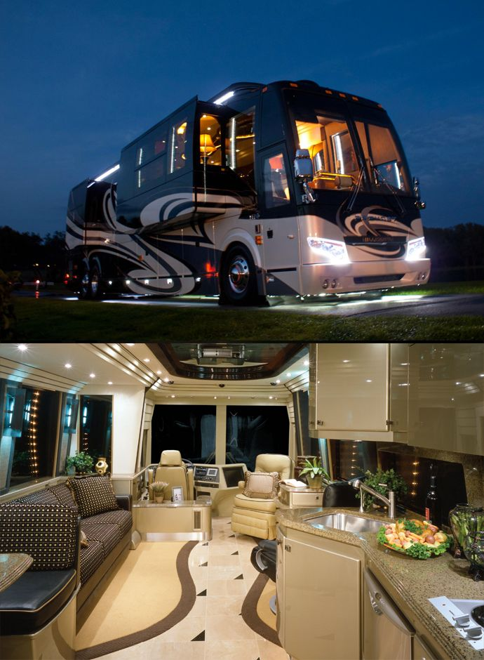 Top 5 Luxury Camper Vans And Rv Country Coach Prevost Rv