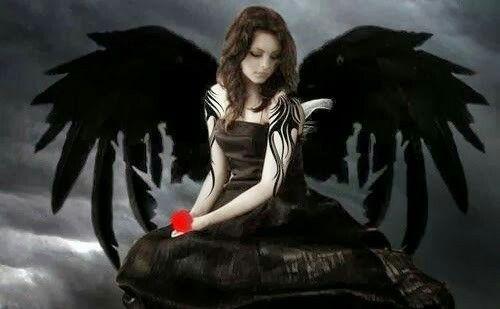 Disfraz: angel negro