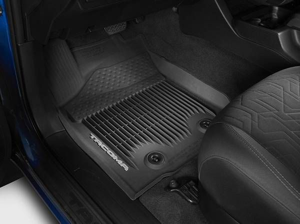 2016 TACOMA ALL WEATHER FLOOR MATS FRONT &REAR LIKE NEW – auto parts – by owner