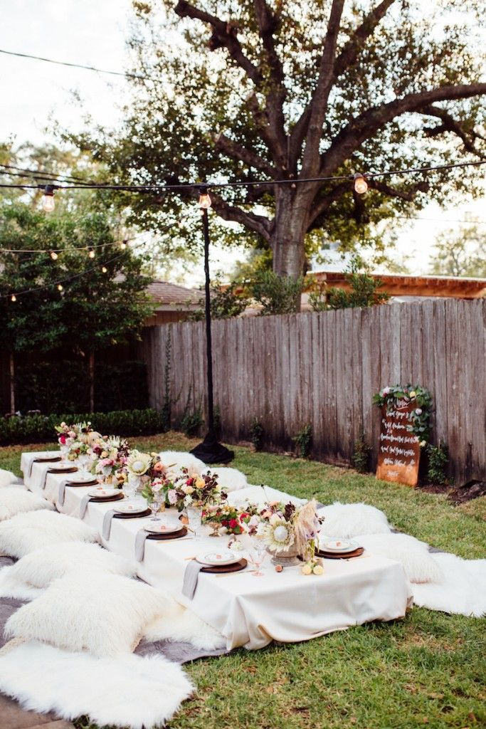 A Bohemian Backyard Dinner Party