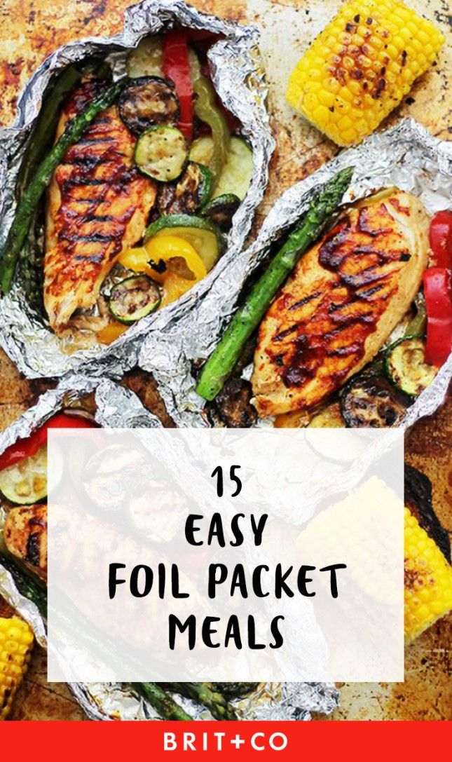 15 Easy Foil Packet Meals Perfect for Campfire Cooking via Brit   Co