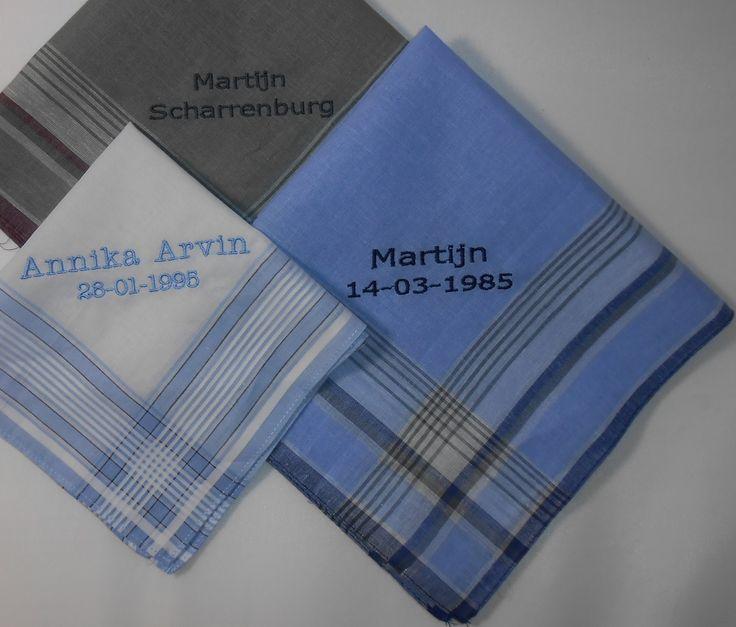gestreepte zakdoeken http://www.borduurkoning.nl/shop/diversen/zakdoeken
