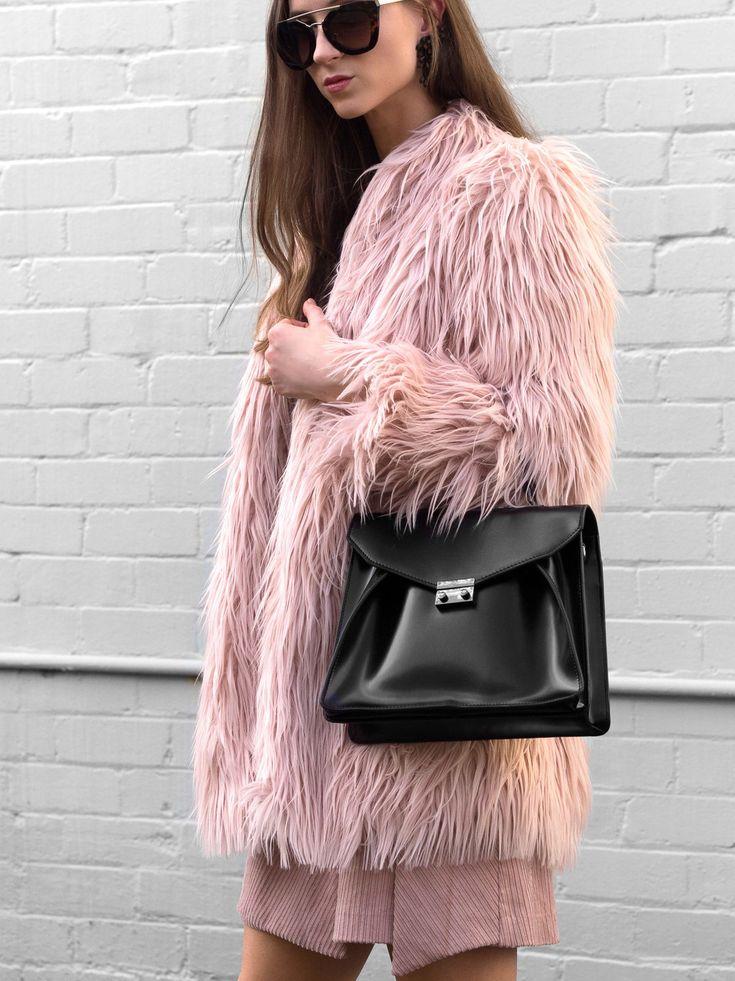 Faux Fur Shaggy Coat Jacket / Fall street style fashion #fauxfux #fashion #women…