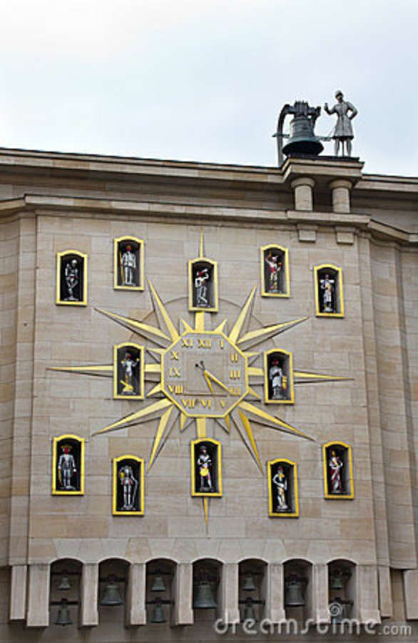Unusual Clock In Brussels Royalty Free Stock Photo - Image: 20382475