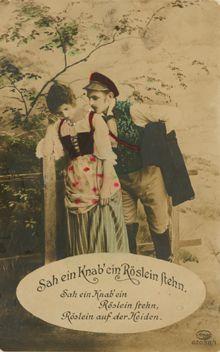 Goethe: Heidenröslein. Sah ein Knab' ein Röslein steh'n