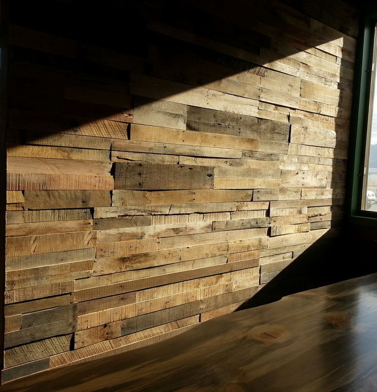 Reclaimed pallet wood wall paneling. Sustainable Lumber Co. | Decor ideas |  Pinterest | Pallet wood walls, Wood walls and Pallet wood