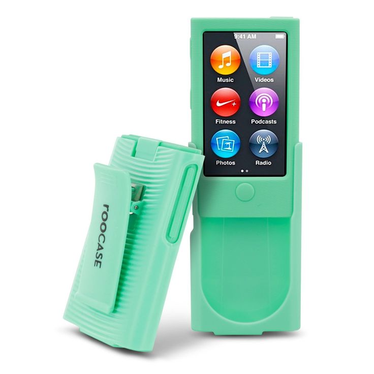 Amazon.com : iPod Nano 7 Case, roocase Hybrid iPod Nano 7 Skin Case with Detachable Holster Clip with Tempered Glass Screen Protector for iPod Nano 7th Generation, Green : Electronics