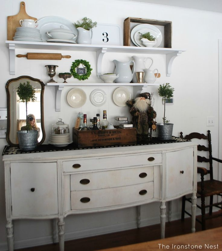 .i've been looking for a hutch to put on my buffet, but i think i will try the shelving.  might even paint buffet