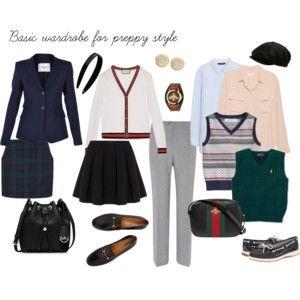 basic wardrobe for preppy style