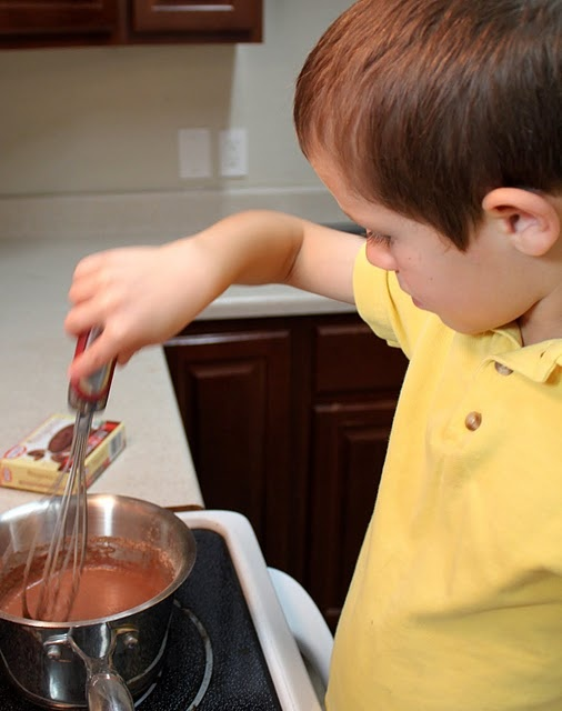 Chocolate (mud) pudding (use with We're Going on a Bear Hunt)