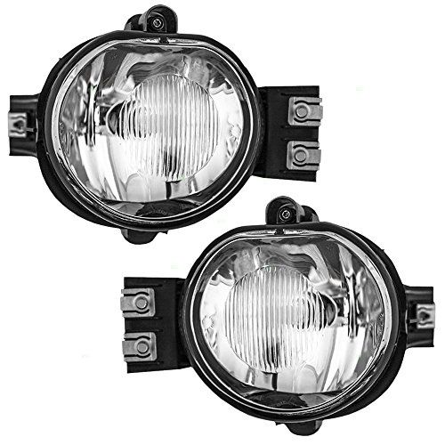 Driver and Passenger Fog Lights Lamps Replacement for Dodge Pickup Truck 55077475AE 55077474AE. For product info go to:  https://www.caraccessoriesonlinemarket.com/driver-and-passenger-fog-lights-lamps-replacement-for-dodge-pickup-truck-55077475ae-55077474ae/