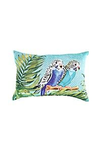PRINTED BUDGIE 40X60CM SCATTER CUSHION