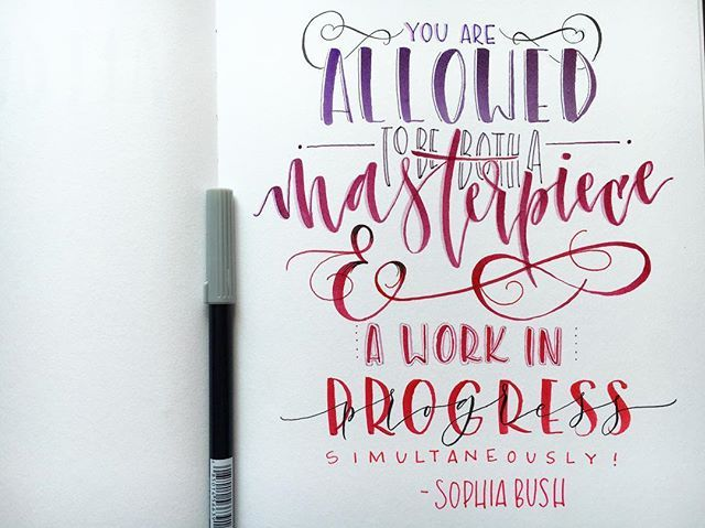 Sophia Bush quote - hand done by ishannondesign on Instagram
