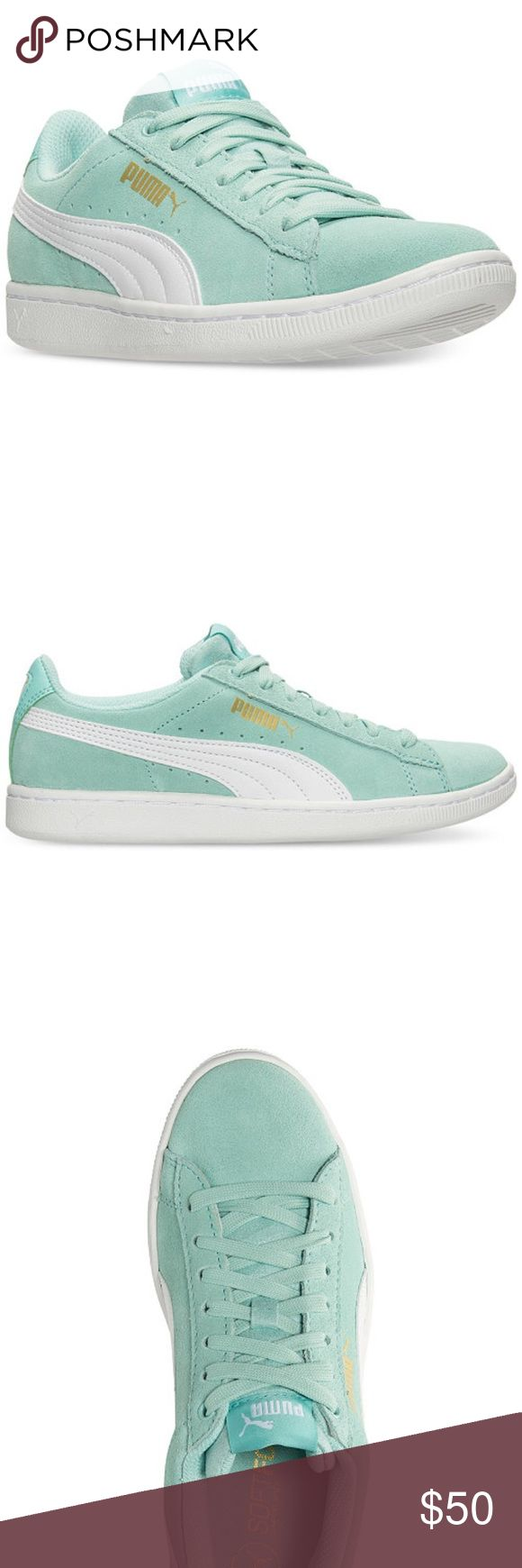 Brand new puma in box. Brand new baby blue puma in box. Size 7 women. Ask your size i just might have it. 100% authentic Puma Shoes Sneakers