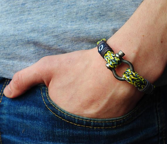 Summer Nautical Bracelet Unisex Rope Bracelet Yellow Cord