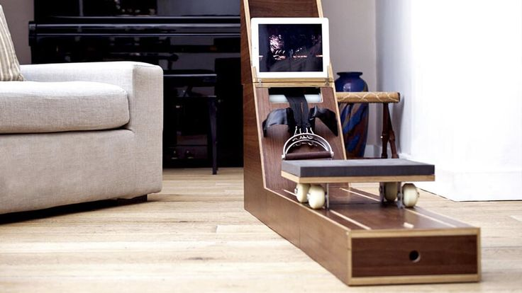 Wooden Side Table That Turns Into A Rowing Machine