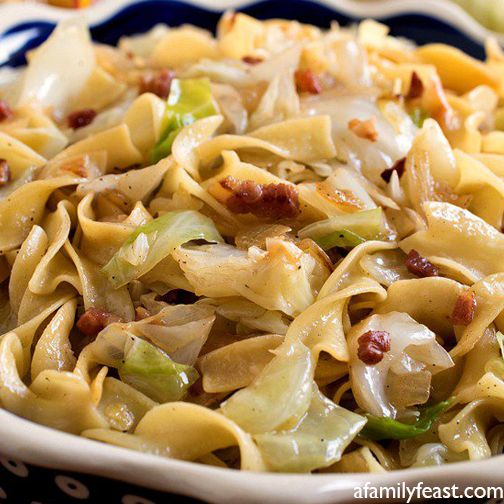 Haluski (Fried Cabbage and Noodles) Recipe - RecipeChart.com