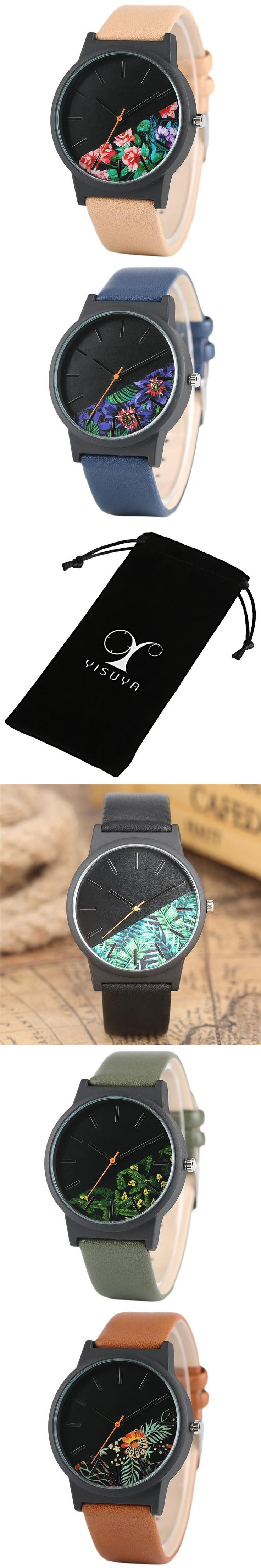 Tropical Jungle Design Pilot Quartz Men Watch Fashion Outdoor Aviator Women Watches Sport Leather Band Unique Clock 2017 New