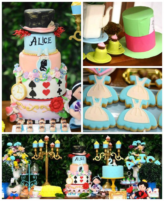 Alice In Wonderland themed birthday party via Kara's Party Ideas | KarasPartyIdeas.com (3)