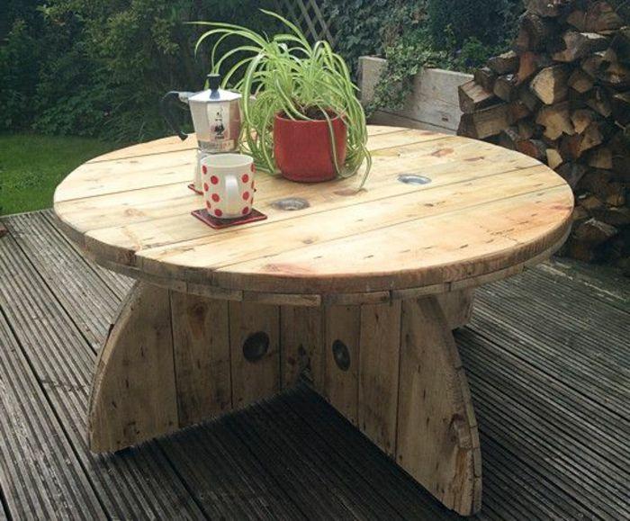 ▷ 1001 + idées astuces brico pour créer une table en touret   For ...