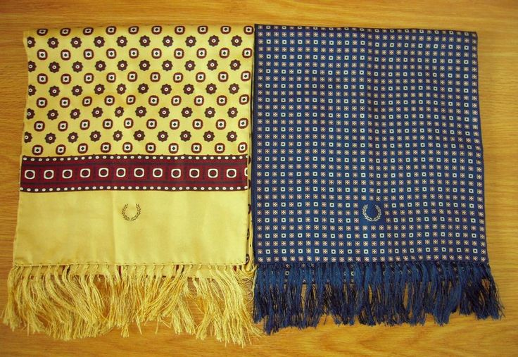 Fred Perry Tootal Silk Scarf - Indie / Retro Styl - Lot of 2 #FredPerry #Scarf