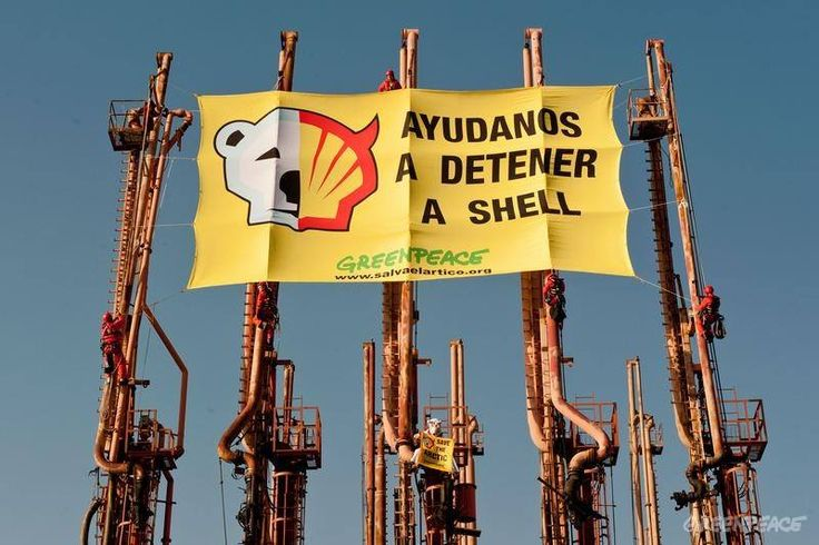 Shell protest in Buenos Aires, Argentina. www.savethearctic.org