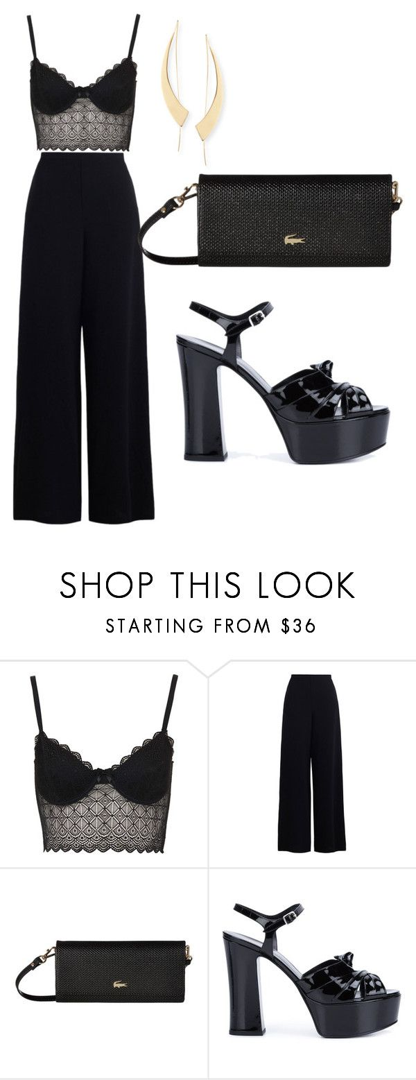 Bad Together by amystyles-i on Polyvore featuring mode, Zimmermann, Topshop, Yves Saint Laurent, Lacoste and Lana