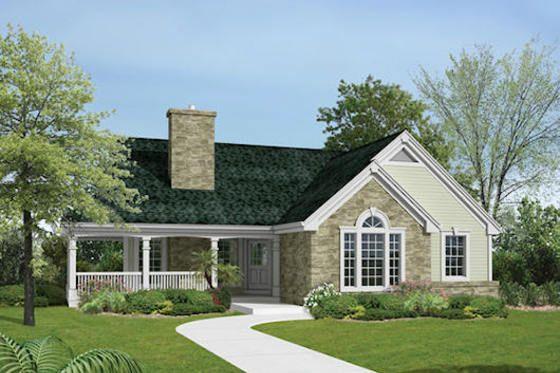 House Plan 57 374 E X T E R I O R S Pinterest Ranch