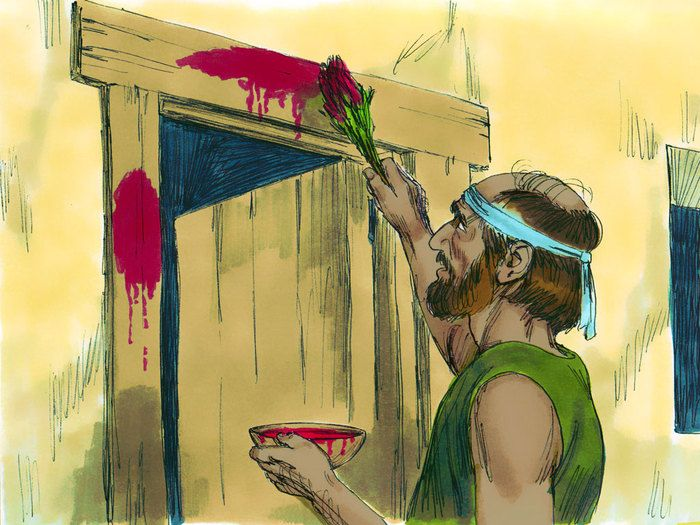 Free Bible images: Free Bible illustrations at Free Bible images of Moses and the final three plagues God sent on Egypt. (Exodus 10 - 12)