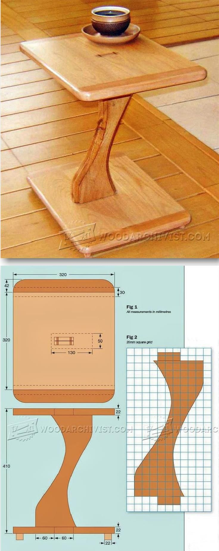 Pedestal Table Plans - Furniture Plans and Projects | WoodArchivist.com