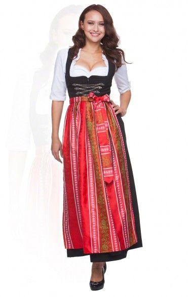 Oktoberfest size length dirndl 1 piece Amber/SC205 red