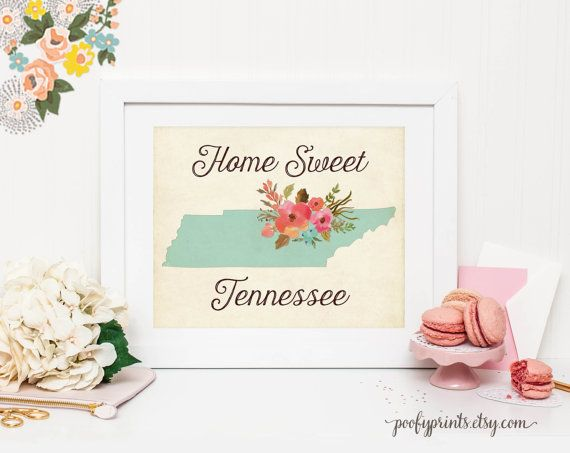 Home Sweet Tennessee. Etsy