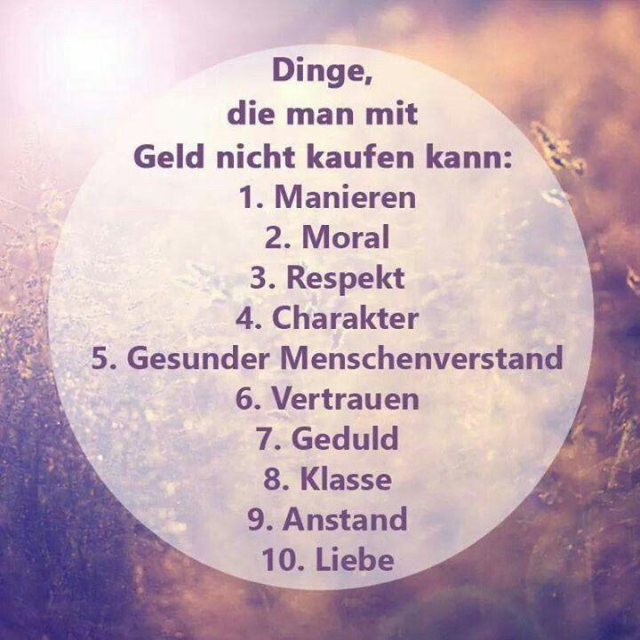 Dinge, Die Man Nicht Mit Geld Kaufen Kann: 1. Manieren / 2.