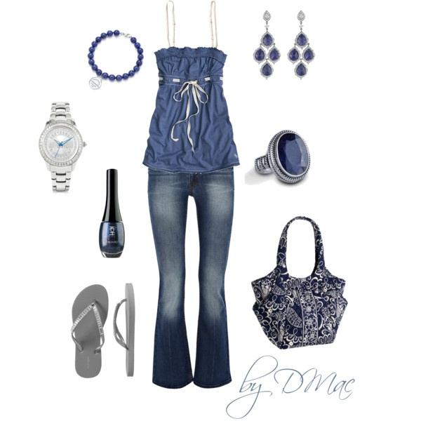 Blue Casual, created by dmac30 on Polyvore: Fun Fashion, Polyvore Summer, Casual Summer, Dreams Closet, Clothing Sho, Flip Flops, Super Cute, Casual Editing, Blue Casual