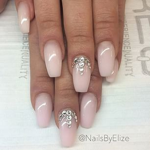 25+ best ideas about Rhinestone nail designs on Pinterest | Nail ...