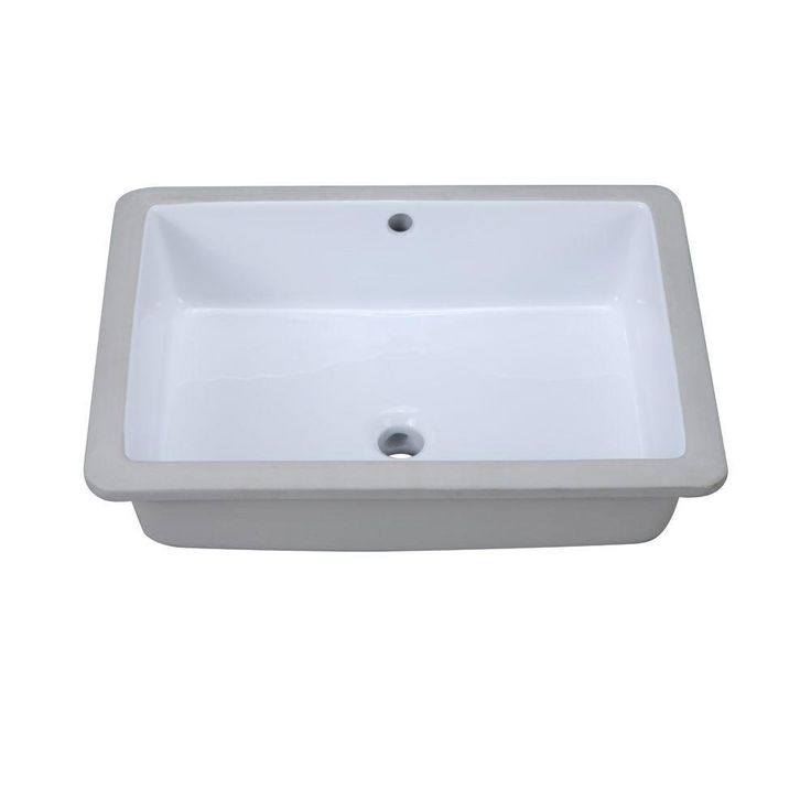 Decolav 1482-CWH Classically Redefined Rectangular Undermount Lavatory Sink, White 542940