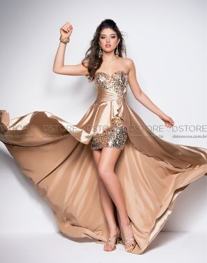 Vestido promoção dourado tamanho 0 - Blush 9508