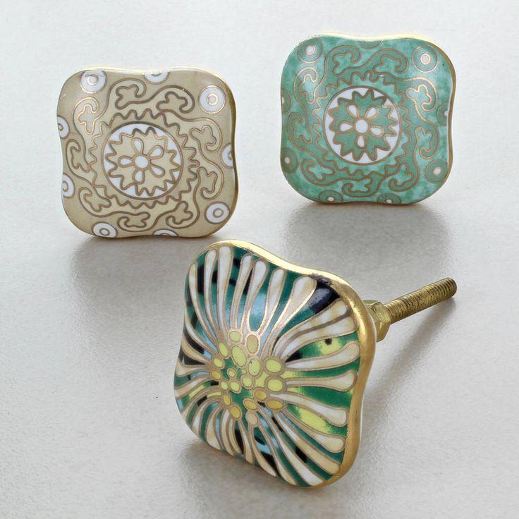 I've just found Milano Collection Ceramic Door Knobs Cupboard Handles. Milano collection ceramic door knobs are one of our luxury collection of high-quality gold ceramic door knobs. . £6.49