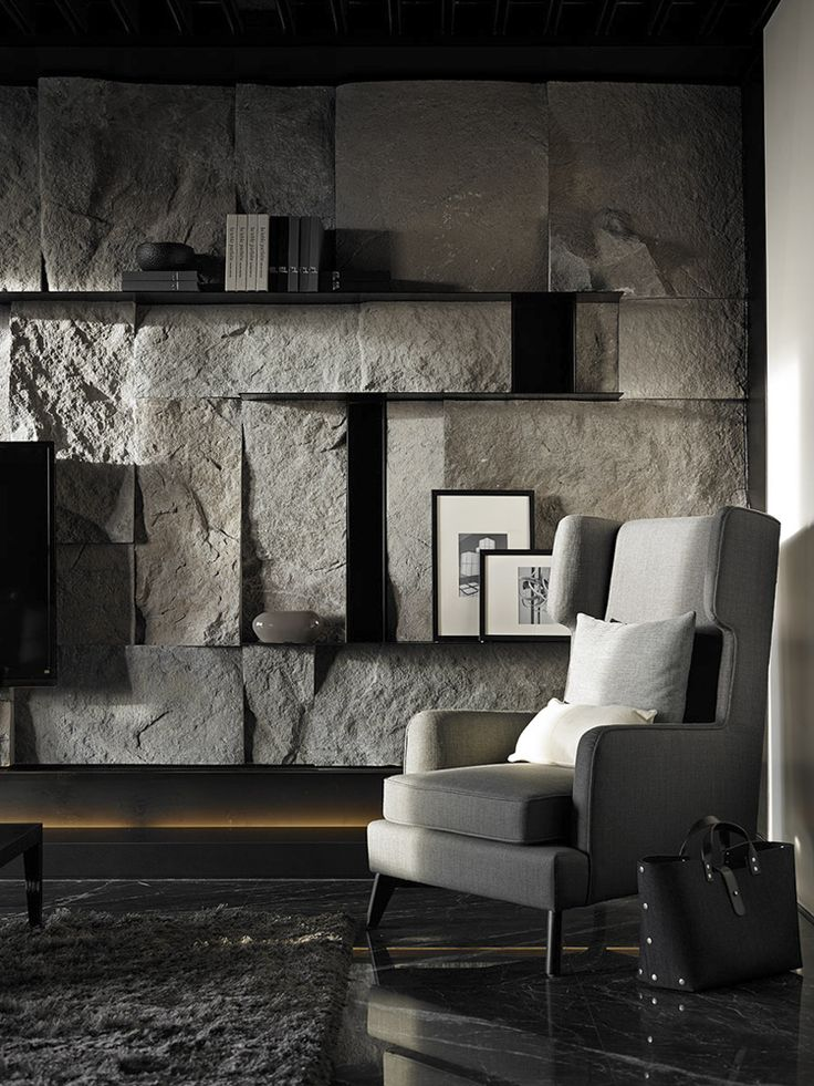 PIN 8 A Statement Making Stone Wall In The Living Room. I Feel As Part 14