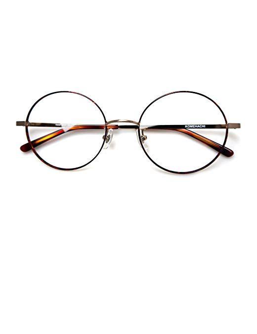 b2f94381c43e Komehachi - Large Round Slim Light Clear Lens Prescription Eyeglasses  Frames Review