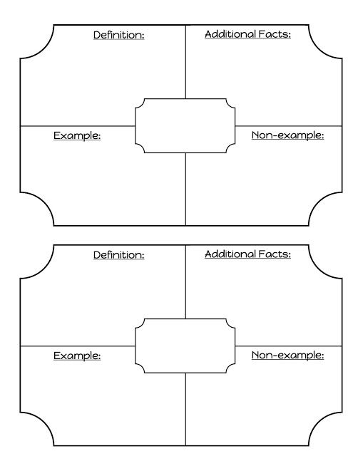 Middle School Math Madness!: My Vocabulary Template