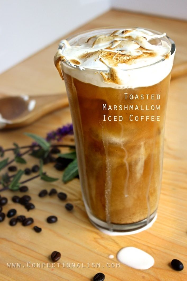 no, this isn't foamy beer, it's EVEN BETTER.... it's toasted marshmallow iced coffee.