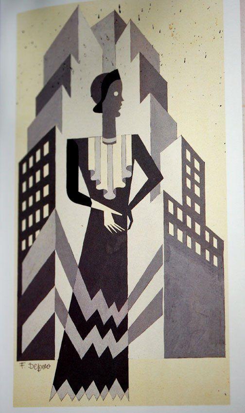 * Illustration for American Vogue, 1930 - Fortunato Depero