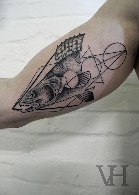 Fish Tattoo by Valentin Hirsch / Germany