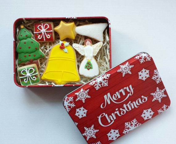 Christmas Cookies Biscuits Tin - Minis