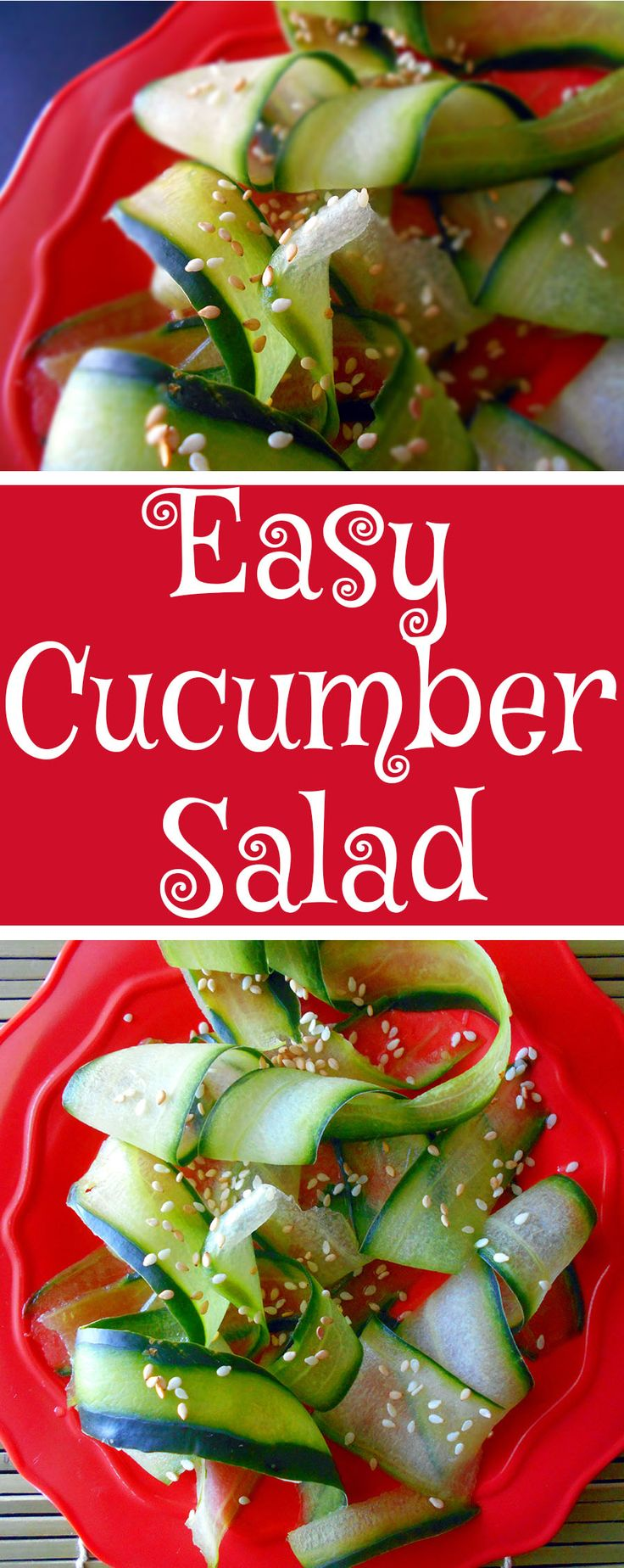 Cucumber salad is a healthy salad recipe made Japanese style. The recipe takes traditional Japanese ingredients and blends them into a simple salad with cucumbers.  This quick salad recipe is a great side dish.